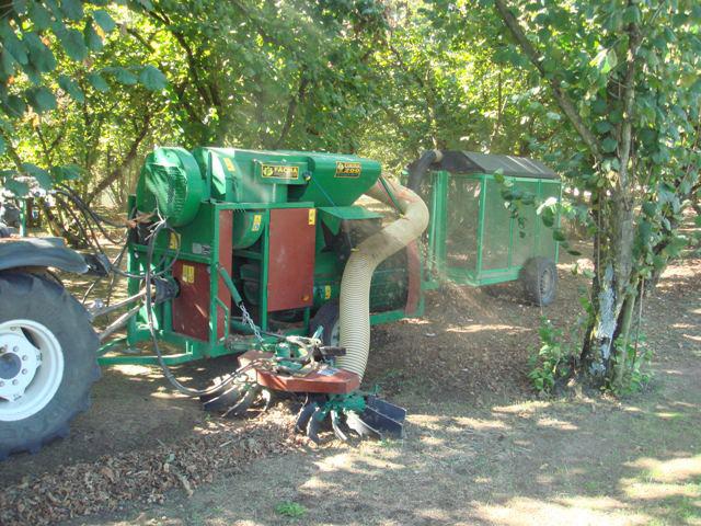 Recogedor de castañas para tractor